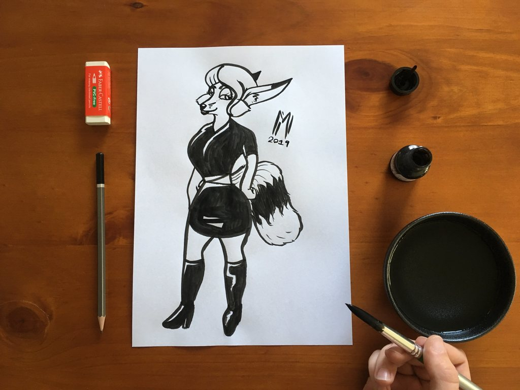 Inktober Day 2 - Jeka pin-up