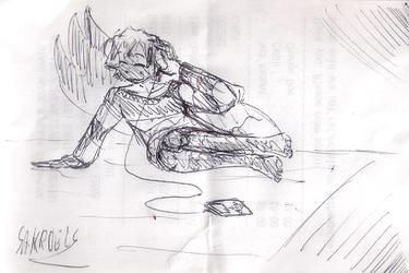 receipt sketch: the beats in my head