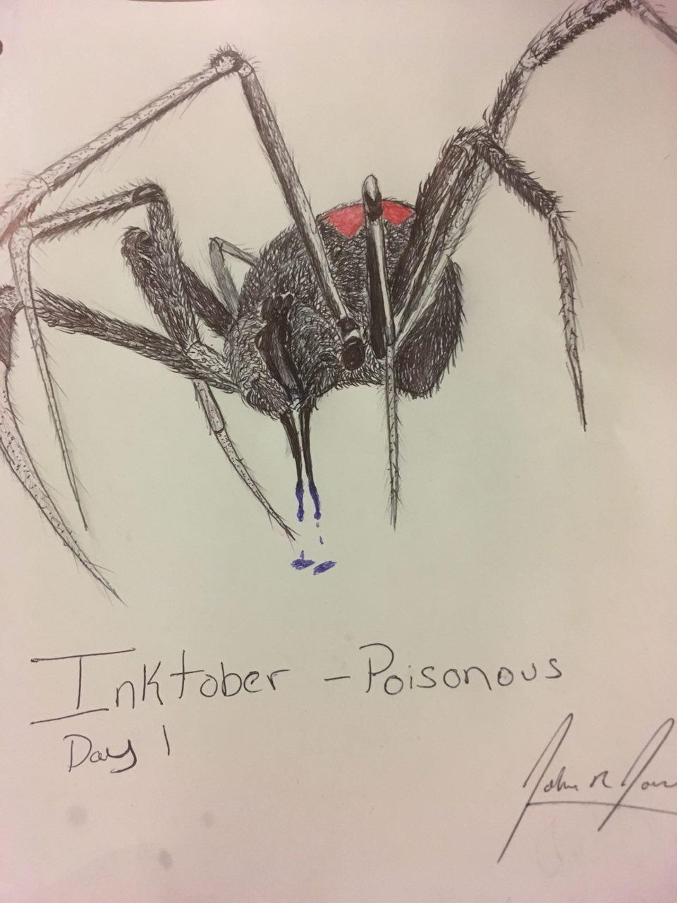 Inktober Day 1 - Poisonous
