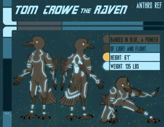 Commission: Anthro Ref Sheet for Tom Crowe