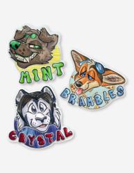 Headshot badges