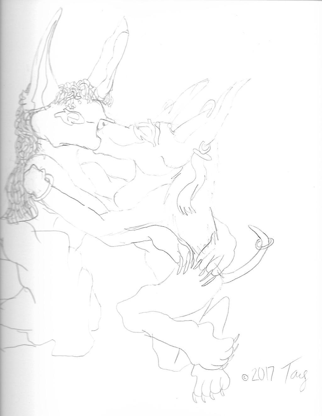 Featured image: Kiss (Anubis x Sanura)