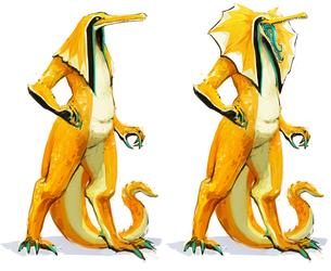 Gharial Crocodile Demon - Full Body