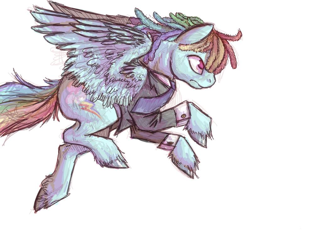 Rainbow Dash w/ Dreadlocks