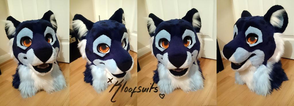 Cobalt Liger Fursuit Head