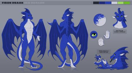 Firon the Sea Dragon SFW - by Acidapluvia