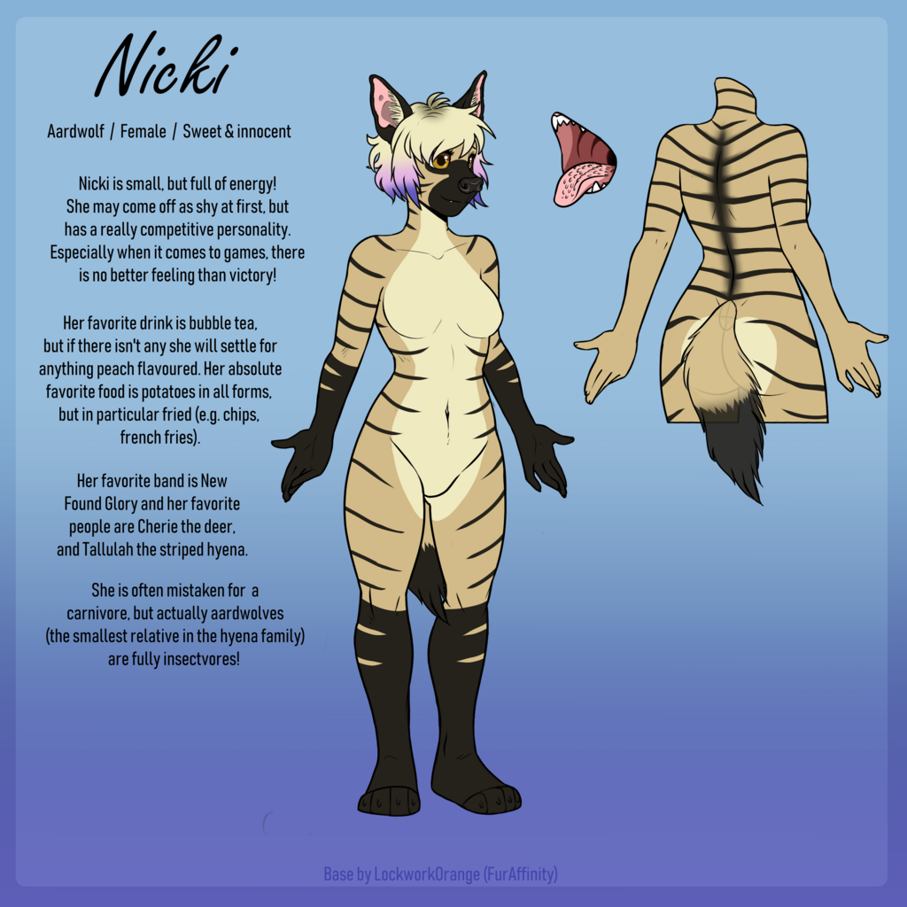 Most recent image: Nicki the aardwolf