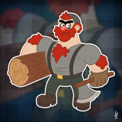 Manly Dan the Lumberjack
