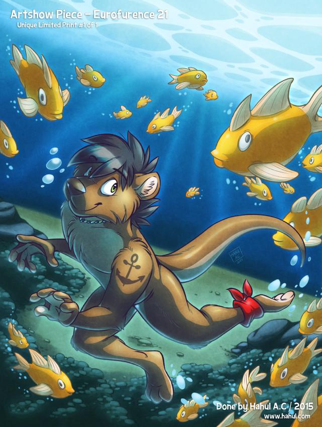 Otter Dive (Artshow EF21)