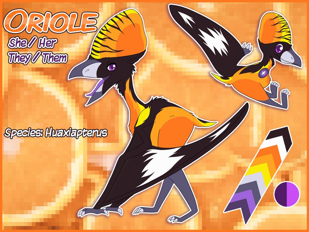 Most recent image: Ref Sheet - Oriole Pterosaur
