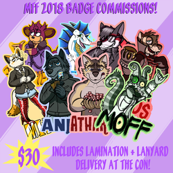 MFF 2018 badge commissions OPEN!