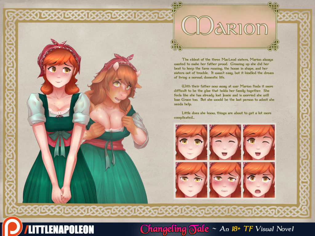 Changeling Tale - Marion Character Sheet