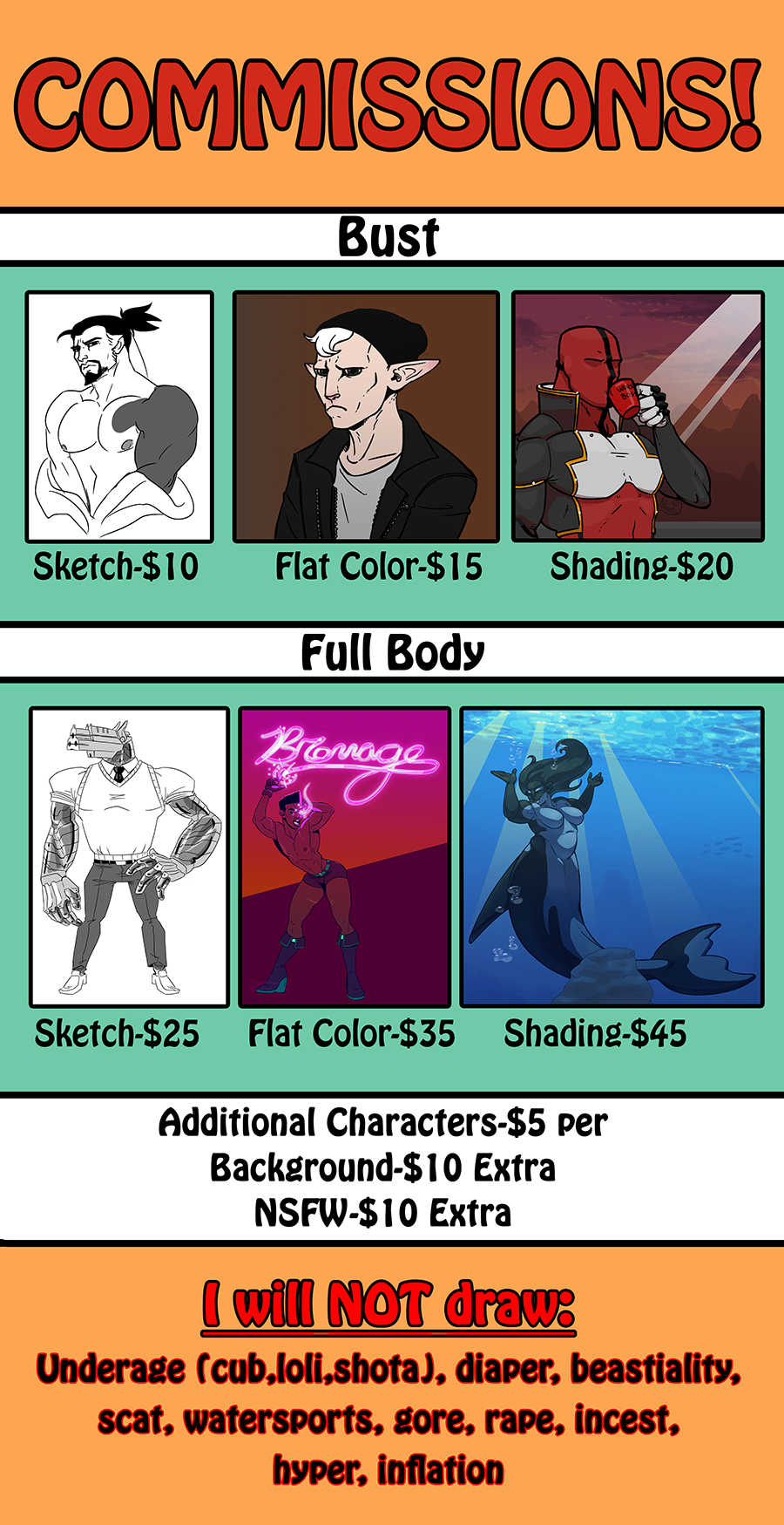 Most recent image: Commissions!