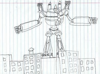 Surge Tron Terrorizing a City