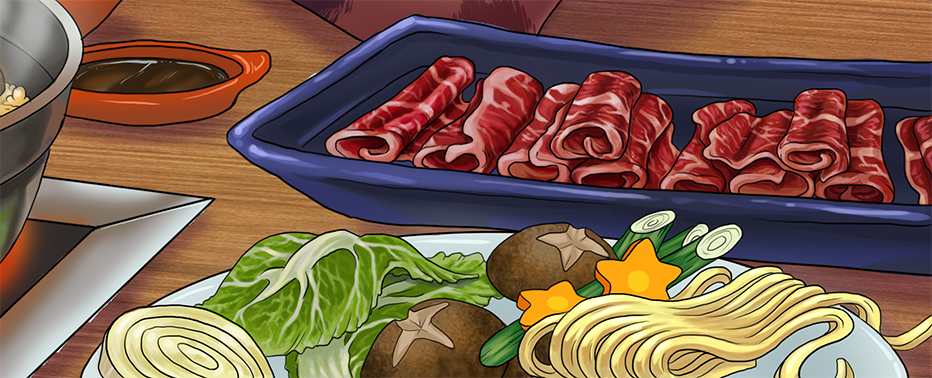 Detail - Shabu shabu raw ingredients