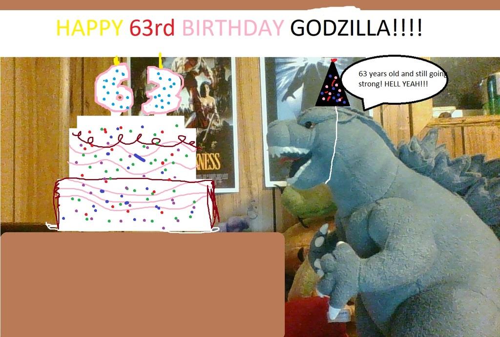 Most recent image: Godzilla's 63rd birthday!!!