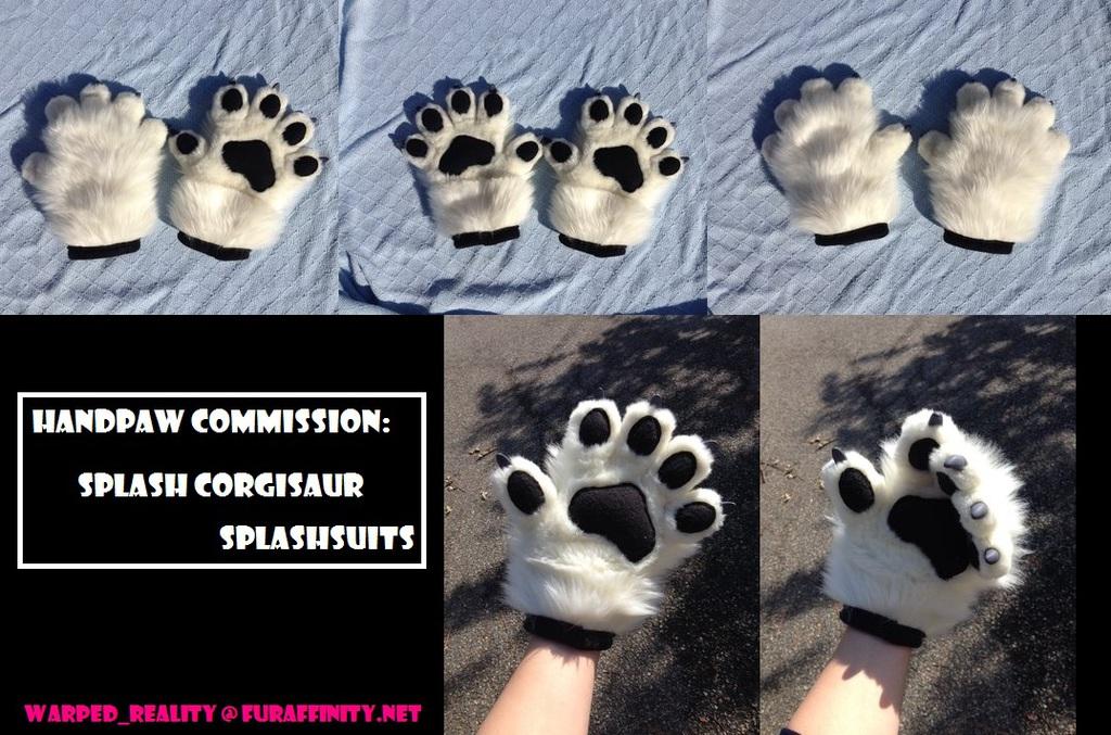 Handpaw Commission: SplashSuits (Splash Corgisaur)