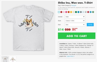 Teepublic 3 day sale: Shiba inu