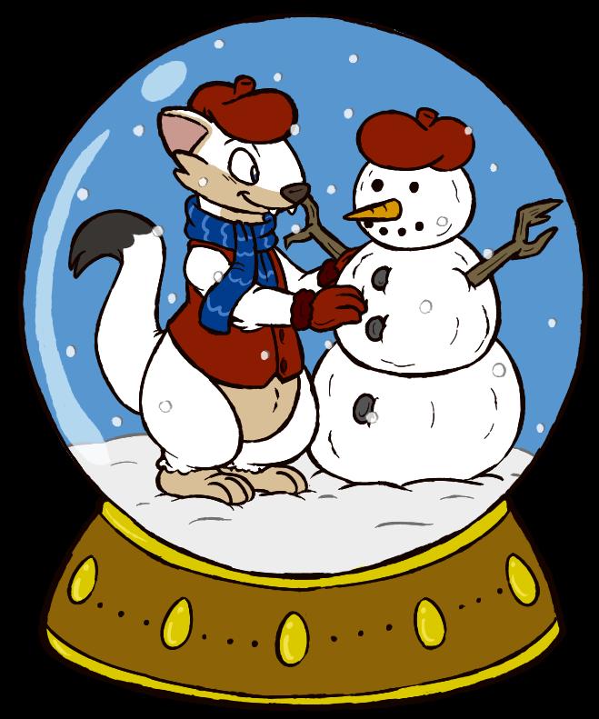 Wesley Snowglobe Button