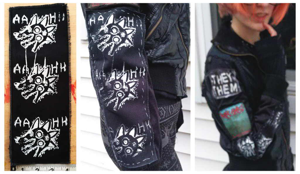 ANXIETY HELL Screenprinted Sleeve Patch