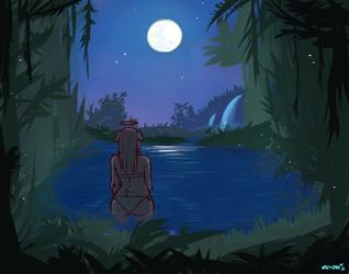 Moonlight Sonata [Painting Experiement]