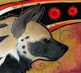 'Striped Hyena as Totem' by Ravenari