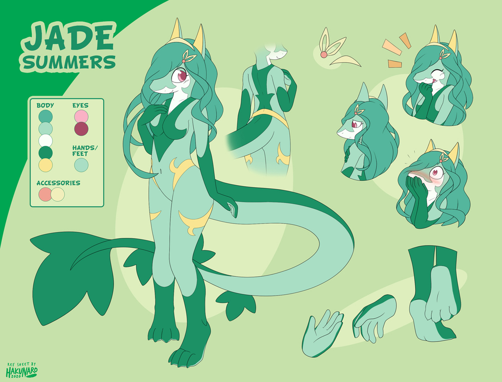 Most recent image: Commission | Jade Summers RefSheet