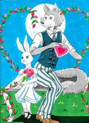 Haru and Legosi Valentines-Art In Progress