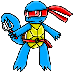 Squirtle as Raphael