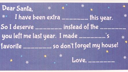 """""""Dear Santa"""" Fill-in-the-blank Meme"""