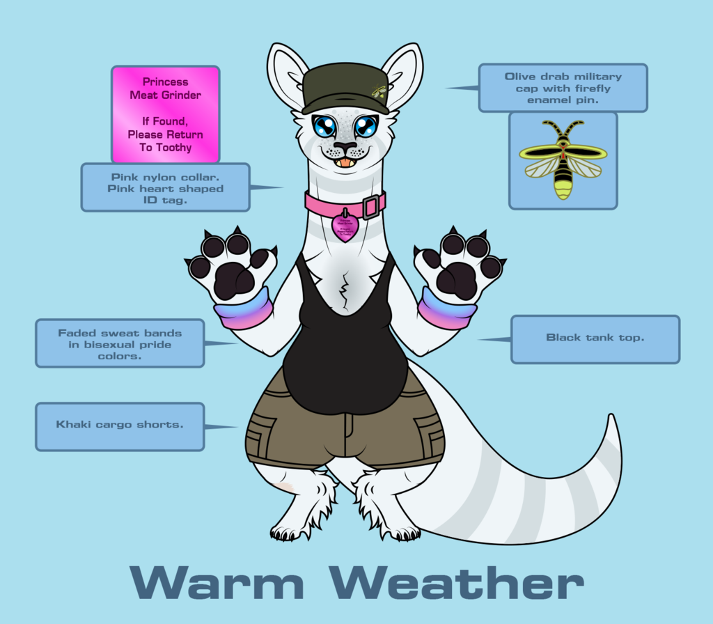 Fletcher Outfit Reference - Warm Weather