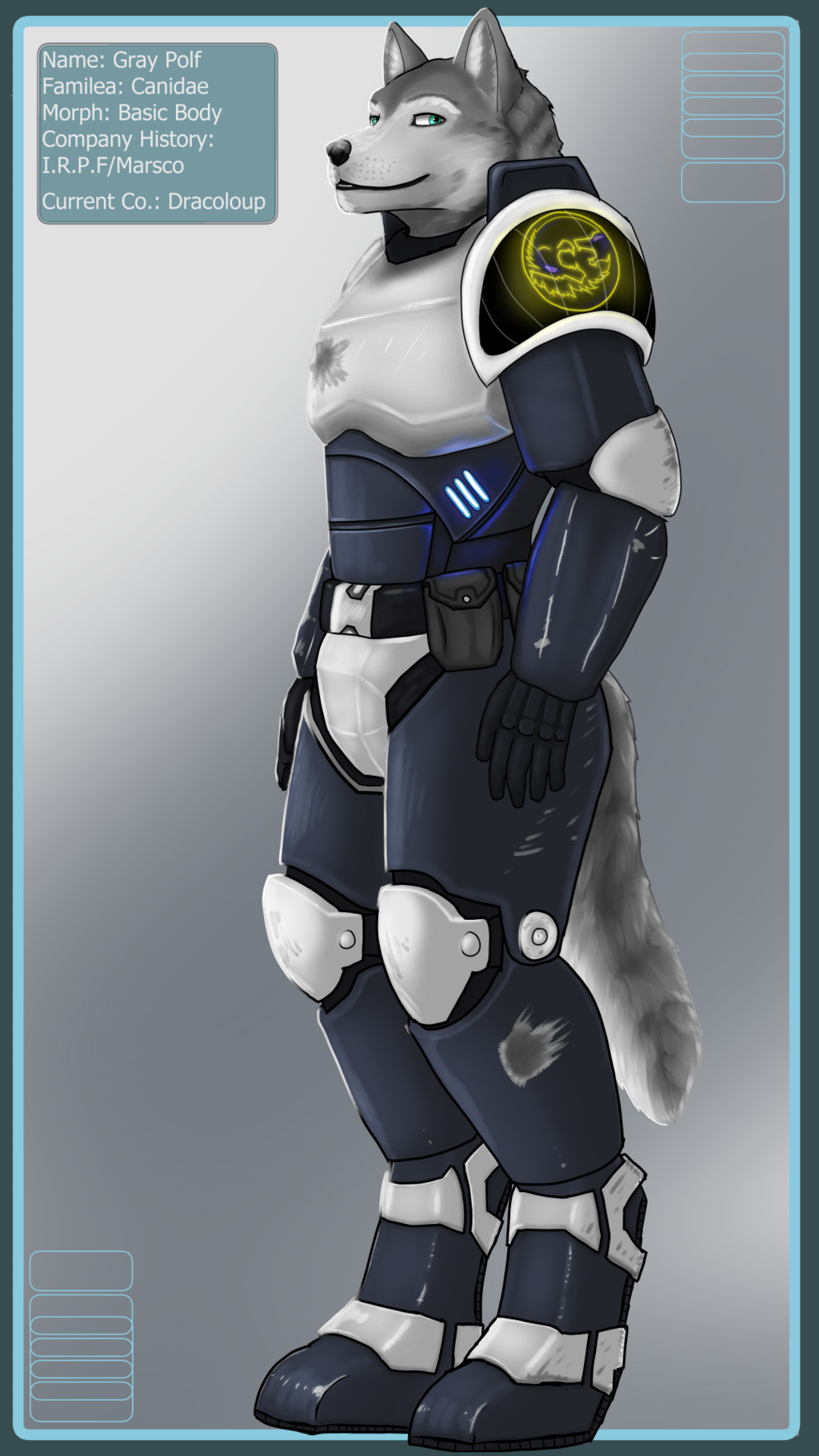 Grey Polf, Armored Commission