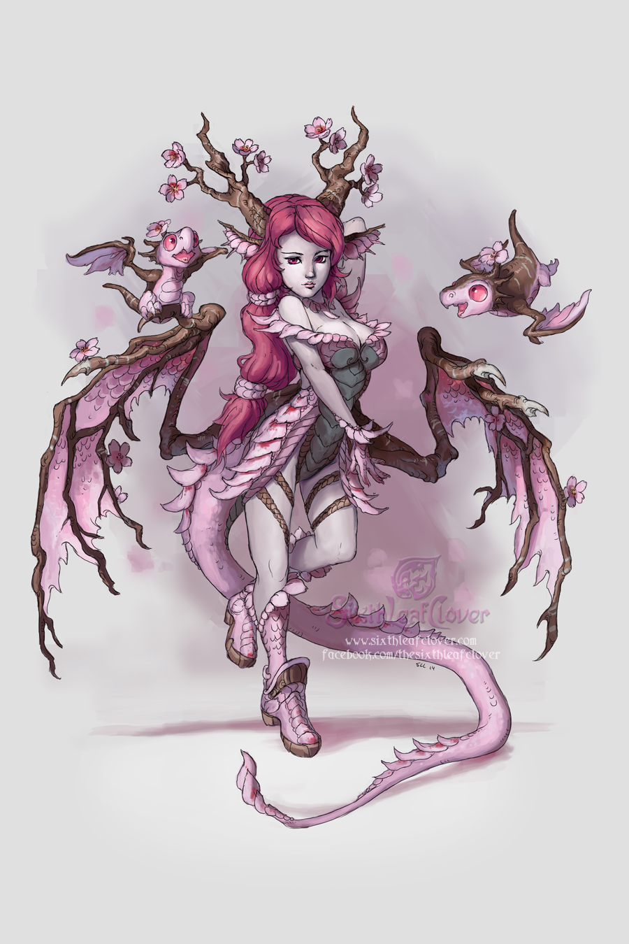 Cherry Blossom Dragon Girl