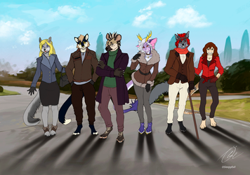 Friends In The Park V2 (Animated)