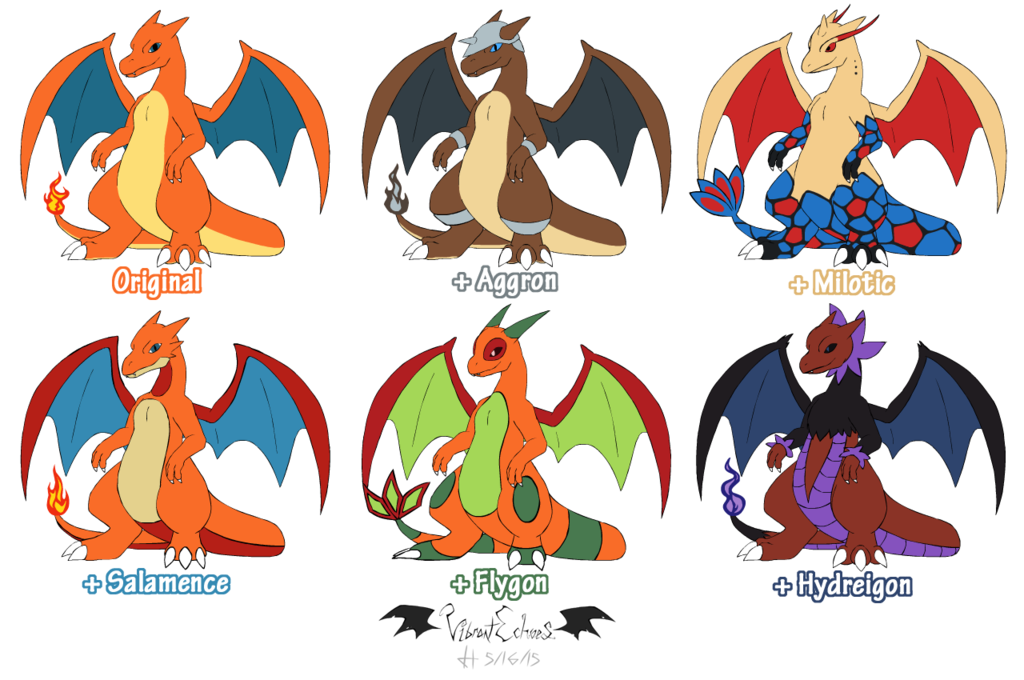 Most recent image: Charizard Variations / Hybrids (Adoptables)