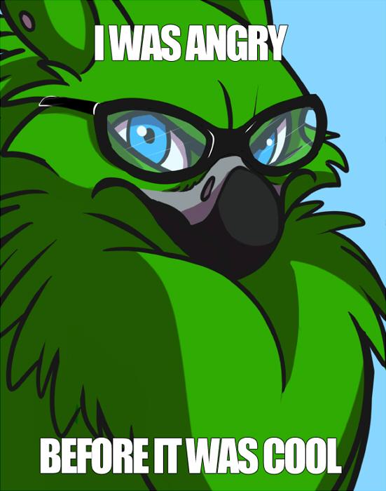 hipster bird