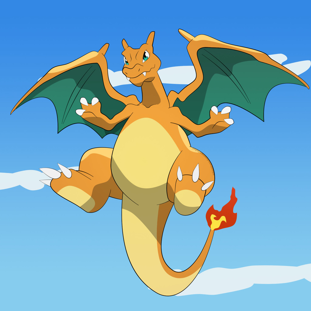 Most recent image: Charizard wants to play clean