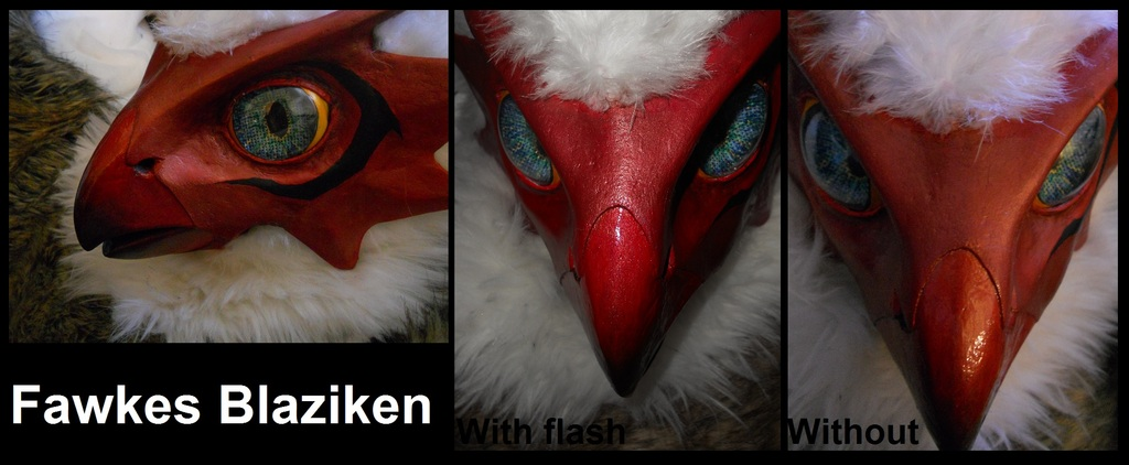Blaziken Mask Close