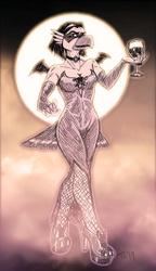 Vampire Countess Viktoria - In Spooky Color!