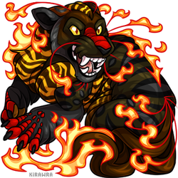 Firey Black Liyure