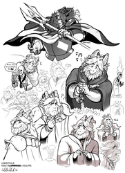 King Asgore doodle collection