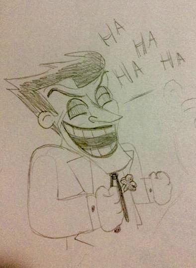 Joker having a good Ol laugh