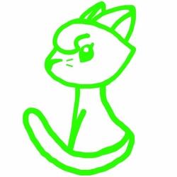 Cat Sitting Back Logo