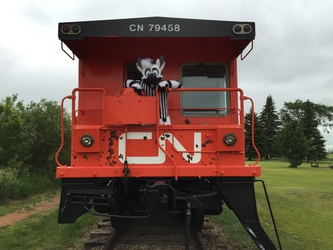 It's the caboose!