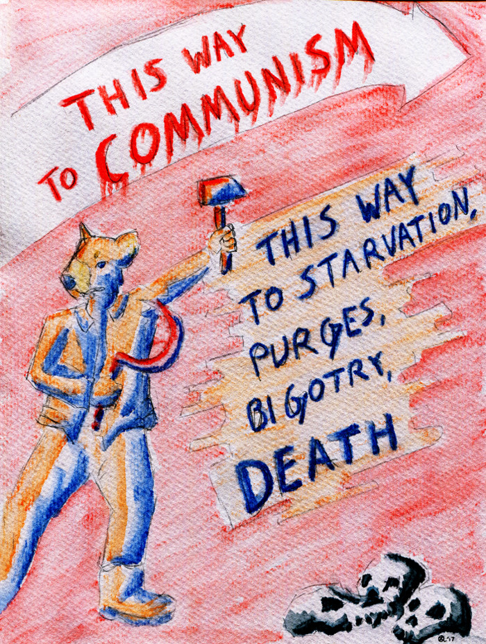 Most recent image: This way to COMMUNISM