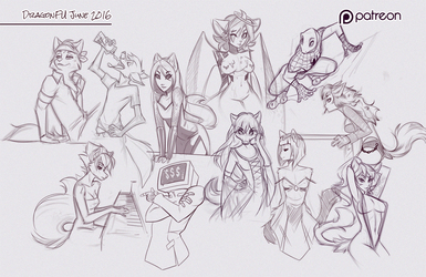 June 2016 Patreon Sketch Page