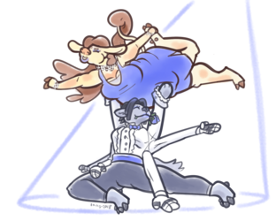 trust drawing exercise team A: ballroom dancing