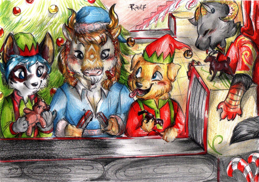 Chibi commission - Christmas Assembly Line!