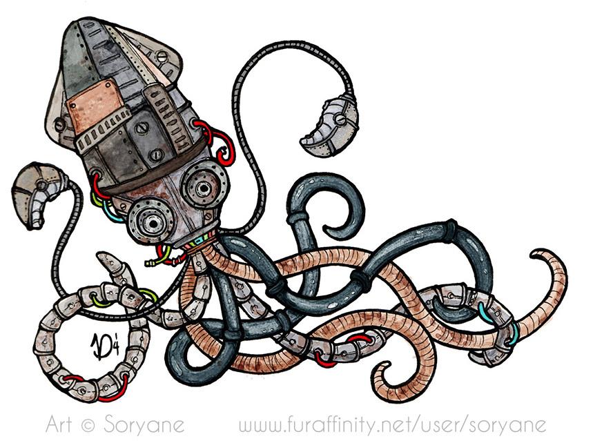 Steampunk Octopus - WTFur 2014