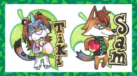 Tiki & Sam - Animal Crossing Badges